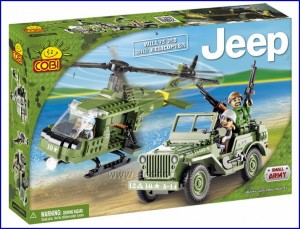 24254 COBI - Jeep Willys MB z Helikopterem